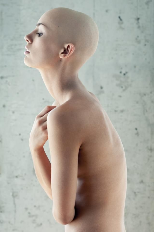 Naked women shaved heads