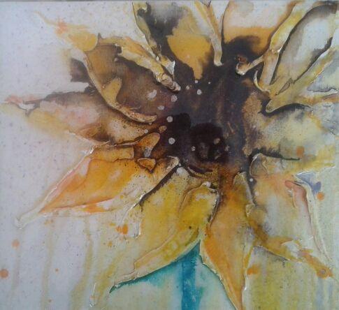 Sunflower by Jill Wright Mixed Media Artist