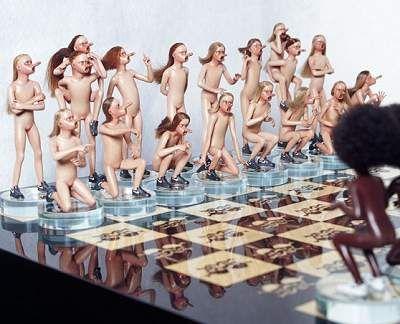 Chess Set, 2003 by Jake and Dinos Chapman (Jake born 1966; Dinos born     1962)