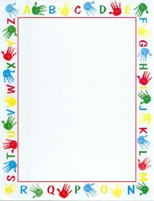 handprints border | 55 handprints these handprints are the kind you won t mind having on ...