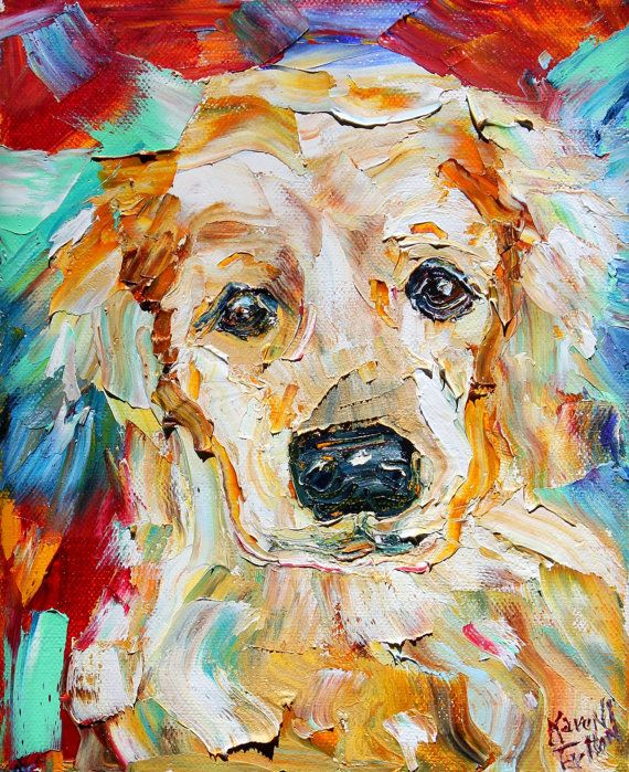 Pet Portraits Original Oil Painting Commission Custom - Dog Cat Horse by Karen Tarlton MODERN IMPRESSIONISM palette knife fine art