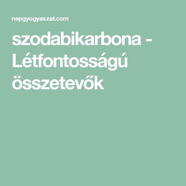 szodabikarbona - Létfontosságú összetevők