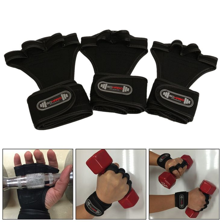 Sports Wrist Bracer Hand Palm Glove For Fitness Gym Weightlifting Workout Dumbbell