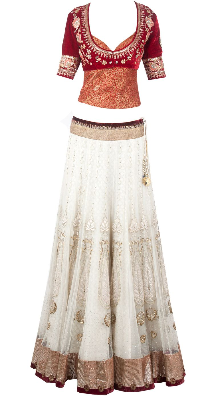 Ivory tree of life net lehenga available only at Pernia's Pop-Up Shop