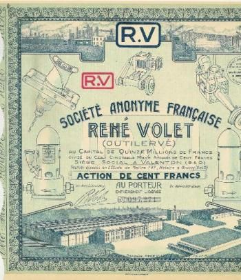 Société Française René Volet, Valenton, 1929