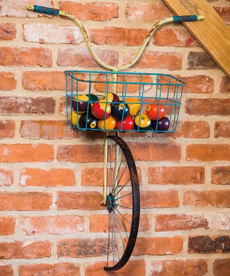 Metal Bicycle with Basket Wall Décor | zulily