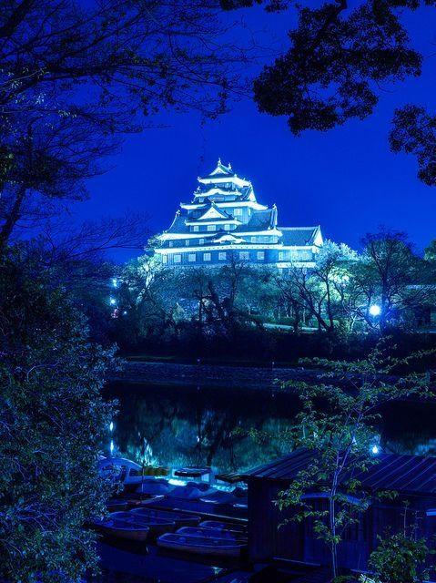 Okayama Castle, Japan. #blue by jd1