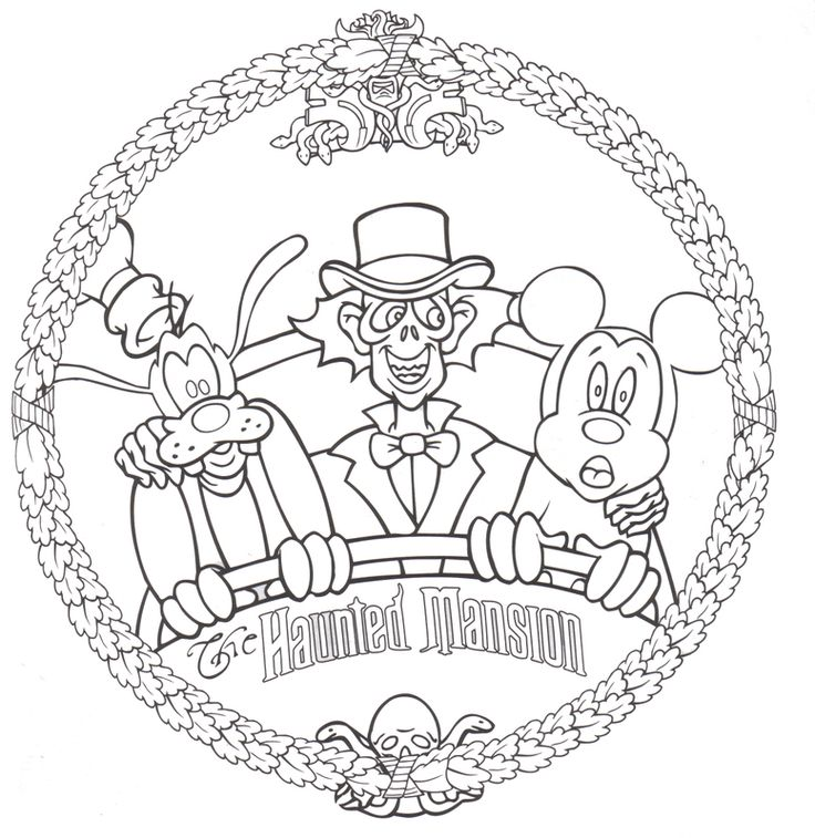 Haunted Mansion - Free Disney Halloween Coloring Pages