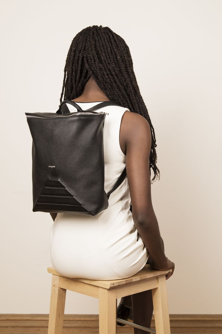 Model with our leather backpack BENJI. www.jeromebocchio.com