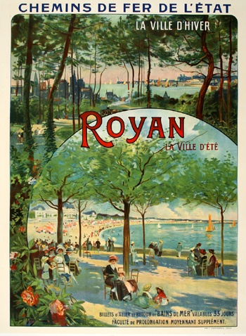 Royan travel poster 1910