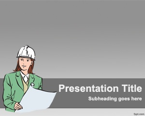 Construction PowerPoint template is another free template for building or civil engineering purposes that you can use for example if you work for a construction company
