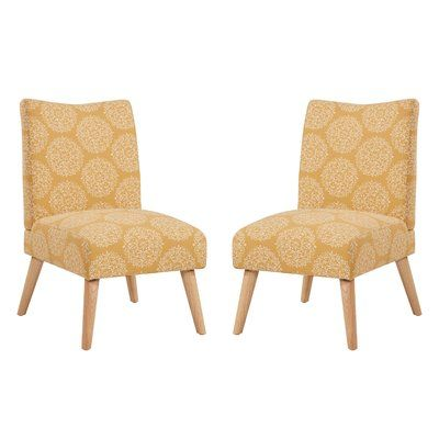 Swell Bungalow Rose Jake Upholstered Parsons Chair Color Mustard Unemploymentrelief Wooden Chair Designs For Living Room Unemploymentrelieforg