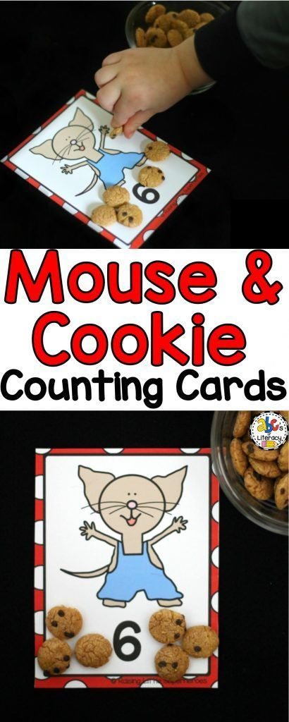Your students are sure to love this #countingactivity and practicing how to count from 1 to 20 with one of their favorite book characters. Click on the picture to print these Mouse & Cookie #countingcards.