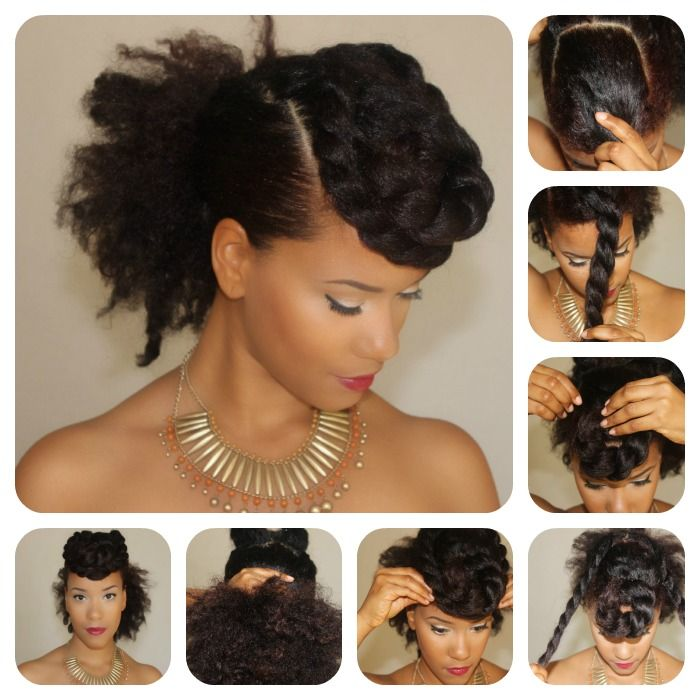 Natural Hair Tutorial | Bold Bang Twist... Can't wait to get some length to do some of these styles