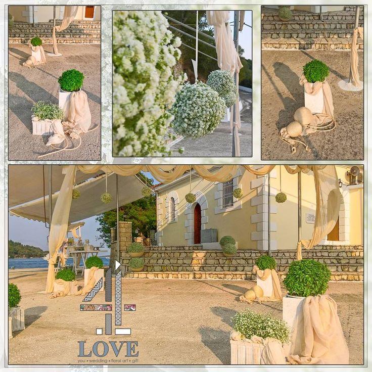 #Διακόσμηση #γάμου στο Νυδρί με διακοσμηστικά στοιχεία επιλεγμένα με στόχο την αρμονία με τον περιβάλλοντα χώρο - Floral Artist Ντίνος Μαβίδης & Concept Stylist Μάνθα Μάντζιου #4Lovegr