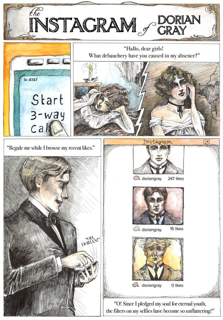 Classic Literature, Reimagined For The Smartphone Era - The Instagram Of Dorian Gray