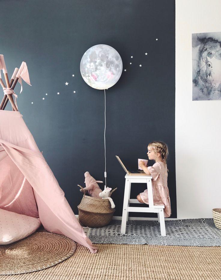 Night Sky Girls Room – #Familienhaus #Jolieprints #Kinderzimmer #Leseecke #Jungenzimmer