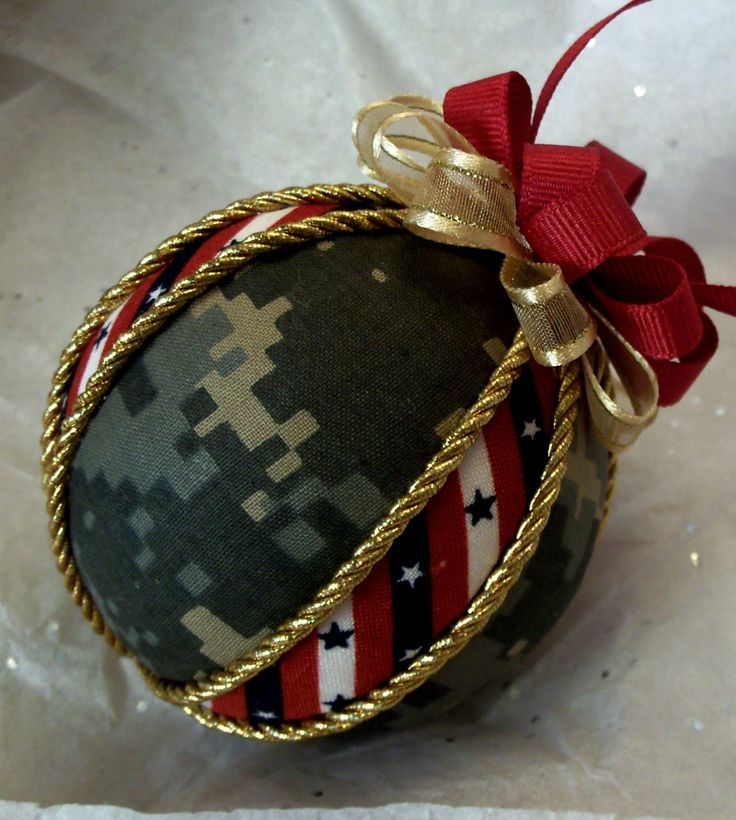 Homemade ornaments---a great gift for an Army wife.
