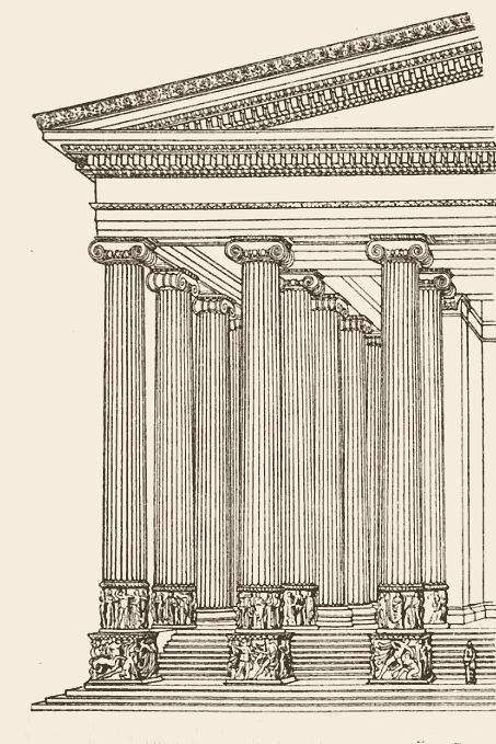 Greek Architecture Drawing