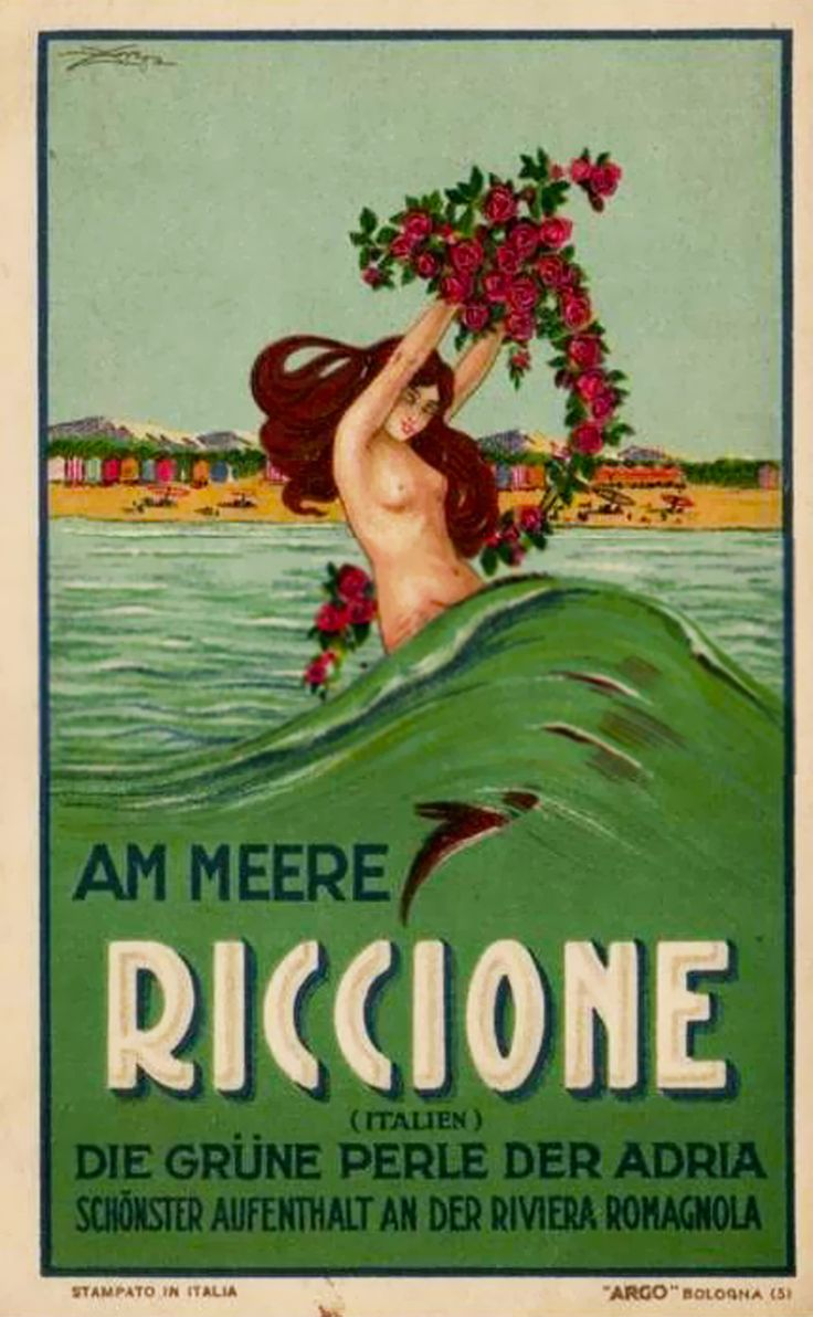 Aldo Mazza, Riccione, 1925 even tho this is in a different language its beautiful it reminds me of a mermaid