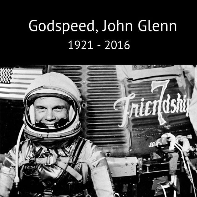 We are saddened by the loss of Sen. John Glenn, the first American to orbit Earth. He also became a U.S. senator and later, at the age of 77 when he flew on the space shuttle, he became the oldest person to fly in space. Our deepest condolences go out to his dear wife Annie, his children, and the people who were inspired by him and loved him around the world. He was a friend, an astronaut and true American hero. Godspeed, John Glenn. Ad astra. #nasa #johnglenn #ripjohnglenn…