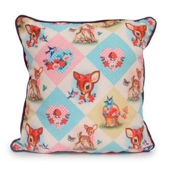 Kitsch Diamond Deer Design Cushion by Wu & Wu | Ripeshop