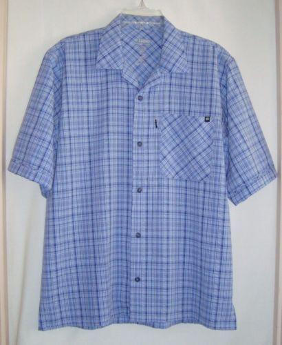 BLACKHAWK-Warrior-Wear-1700-Blue-Plaid-Short-Sleeve-Mens-Shirt-Size-Med