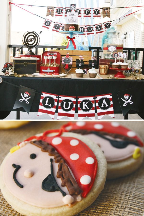 Desserts: Pirate Party dessert table