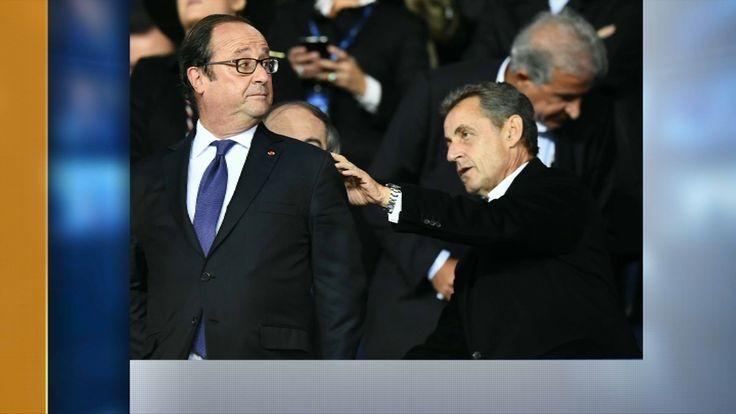 François Hollande et Nicolas Sarkozy complices au Parc des Princes lors de PSG-Bayern?