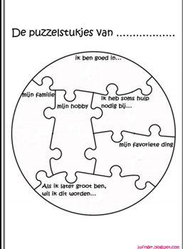 puzzelstukje wie ben ik (voor school)