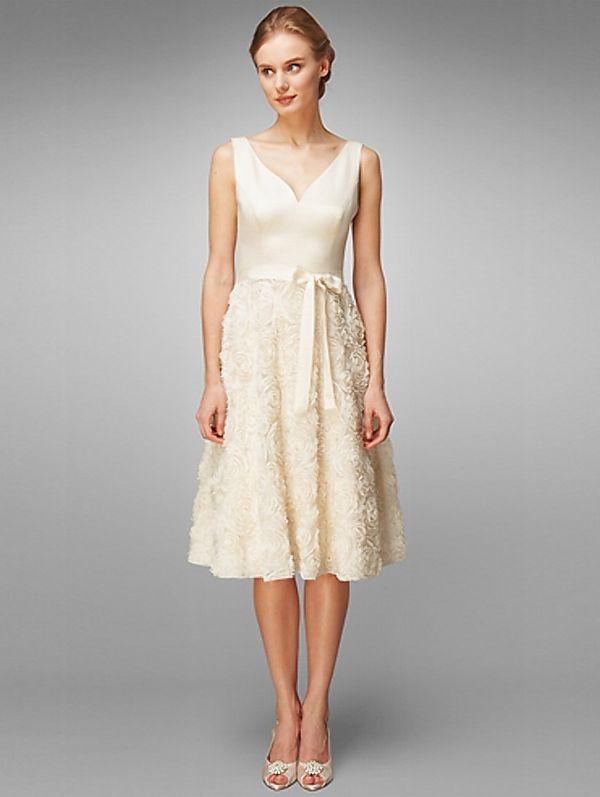 Short Summer Wedding Dresses With Color Summer Ivory