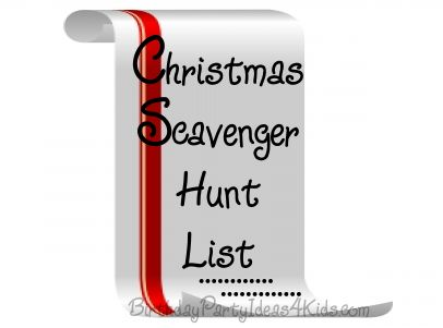 Christmas Scavenger Hunt List  FREE to print out!  37 fun Christmas / Winter themed items to find
