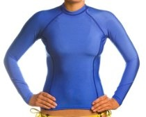 Beach Depot UPF 50+ Women's Long Sleeve Rash Guard Shirt - Royal Blue XL