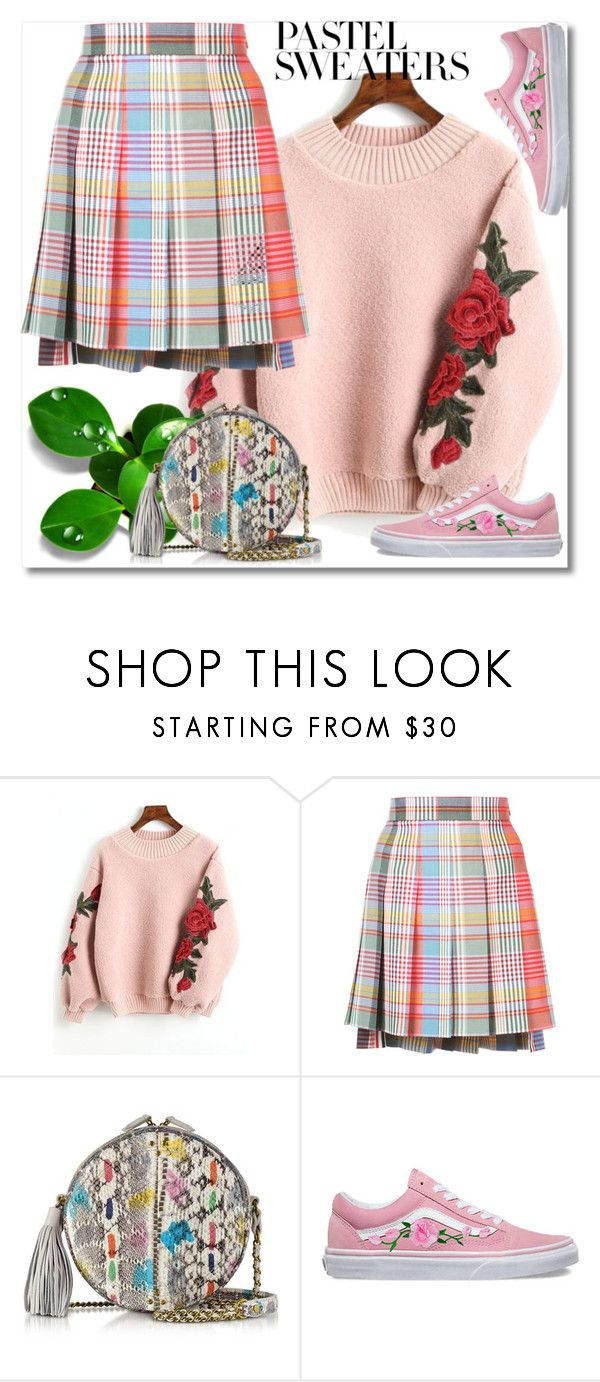 """""""So Sweet: Pastel Sweaters"""" by ilona-828 ❤ liked on Polyvore featuring Thom Browne, Jérôme Dreyfuss, Vans, polyvoreeditorial and pastelsweaters"""