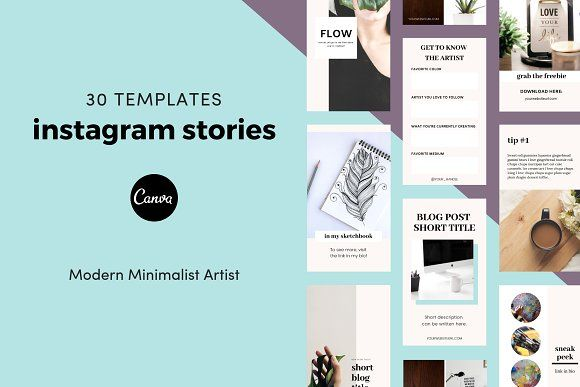Canva Instagram Stories For Artists Instagram Story Instagram Story Template Minimalist Artist