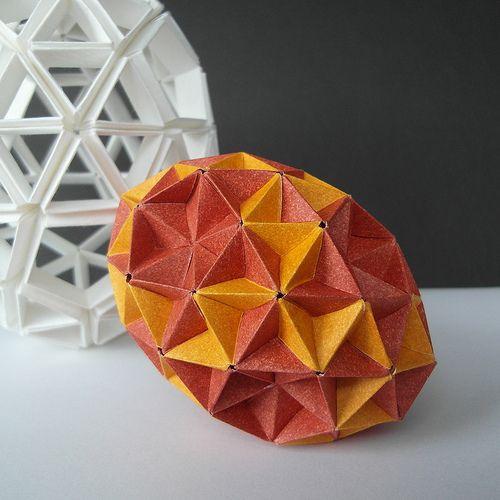 Kusudama Heart Cube Origami