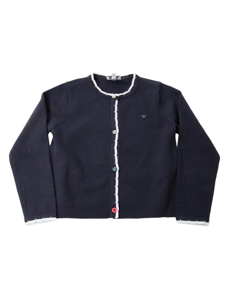 Armani Navy Button Detail Knitted Cardigan | Accent Clothing