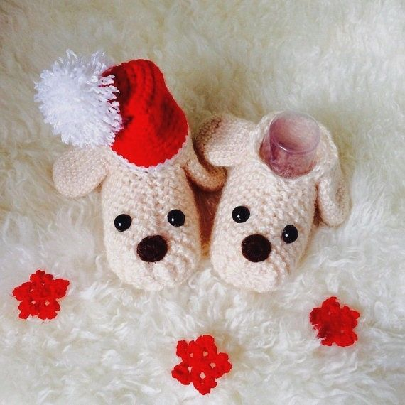 Baby Booties Puppy Symbol of the 2018 year #Handmade