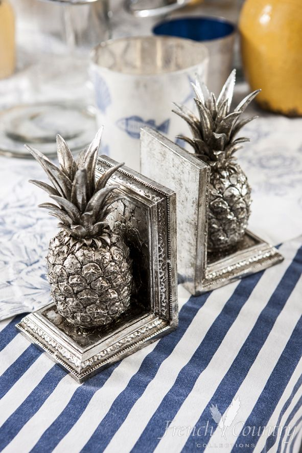 Pineapple Bookends www.frenchcountry.co.nz