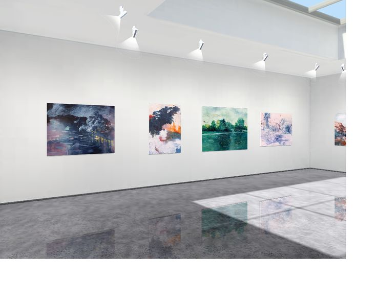 Virtual gallery exhibition.  Immerse in this space with tranquility. Opening show: Alice (Hye Ryung) Yang: Transcendence | a Solo Exhibition.