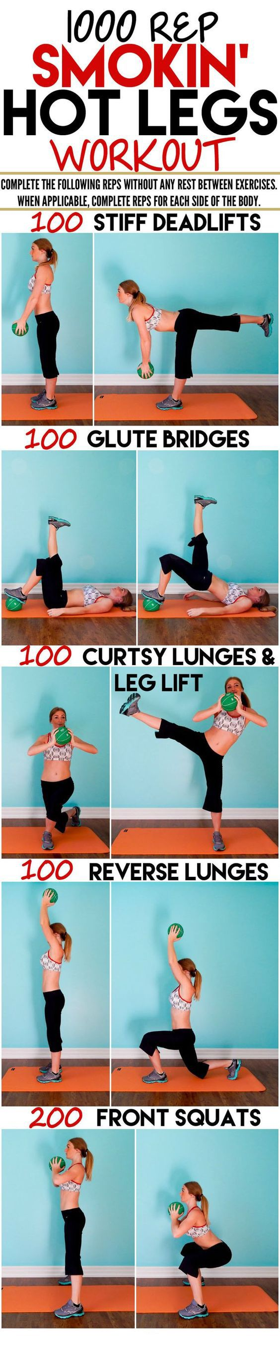 How about those 1000 reps to your Smokin' Hot Legs #weightloss #loseweight #weightlossworkout #legsworkout #fatburning #exercise #workout #Fitness #Health https://www.youtube.com/watch?v=Q96gA6-kRZk