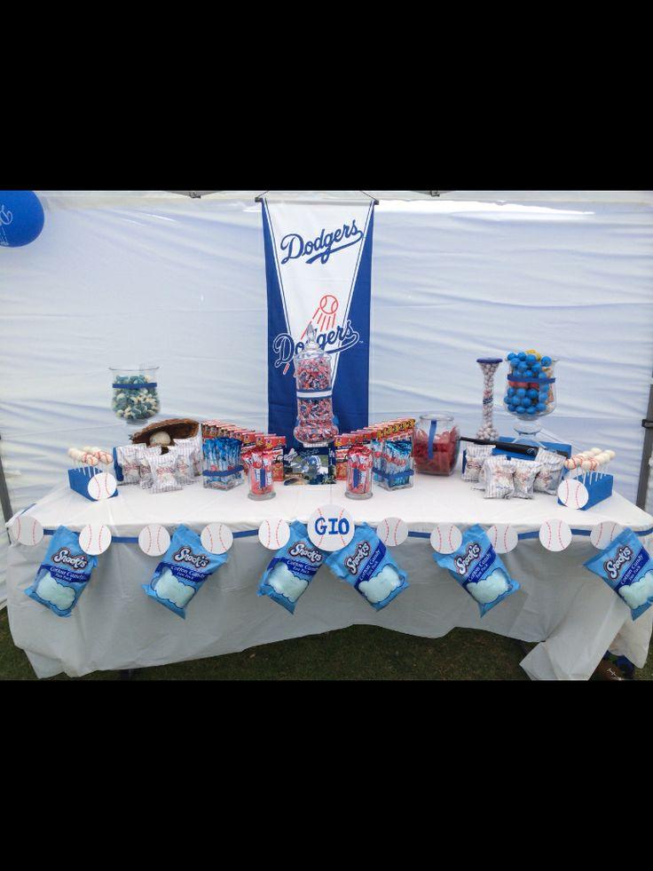 Dodgers Theme Dodger Blue And White Baseball Theme