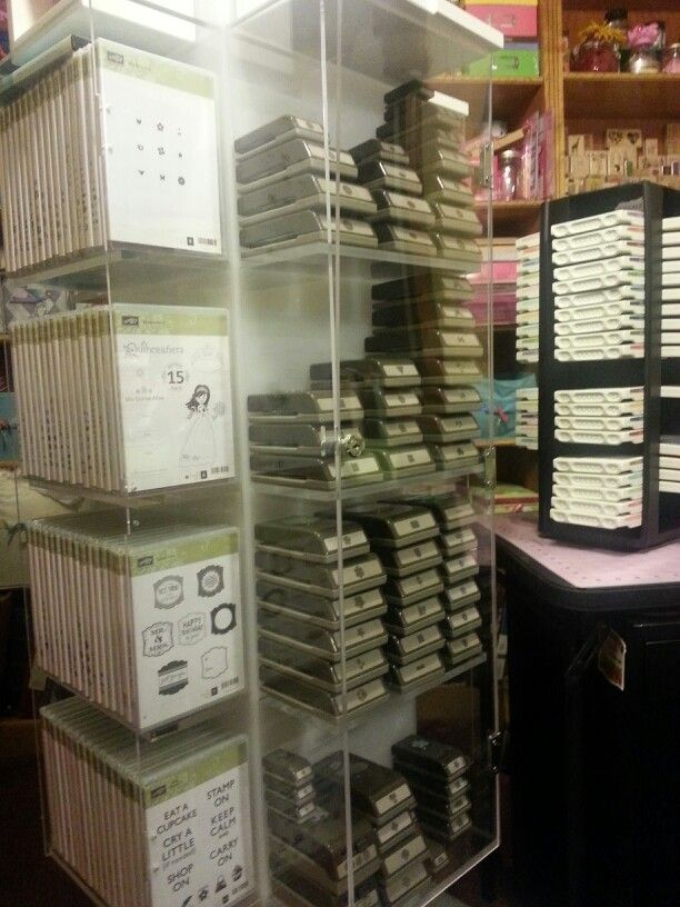 Stampin 39 up storage ink pads punches clearstamps for Stampin pretty craft room
