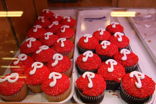 Phillies cupcakes!