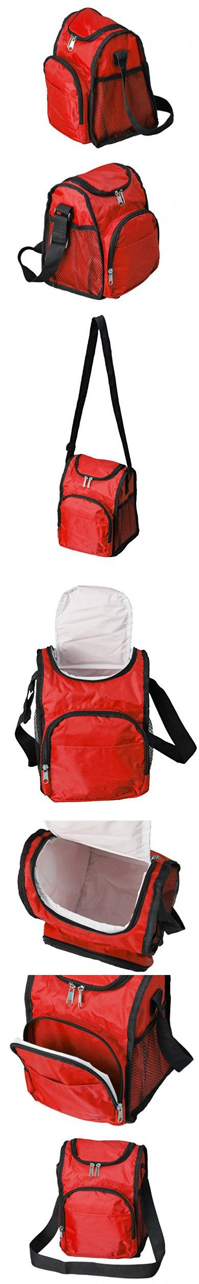 Lunchboxes for Boys - Insulated Boys Lunch Boxes, Thermal Red Lunch Bags for Kids School
