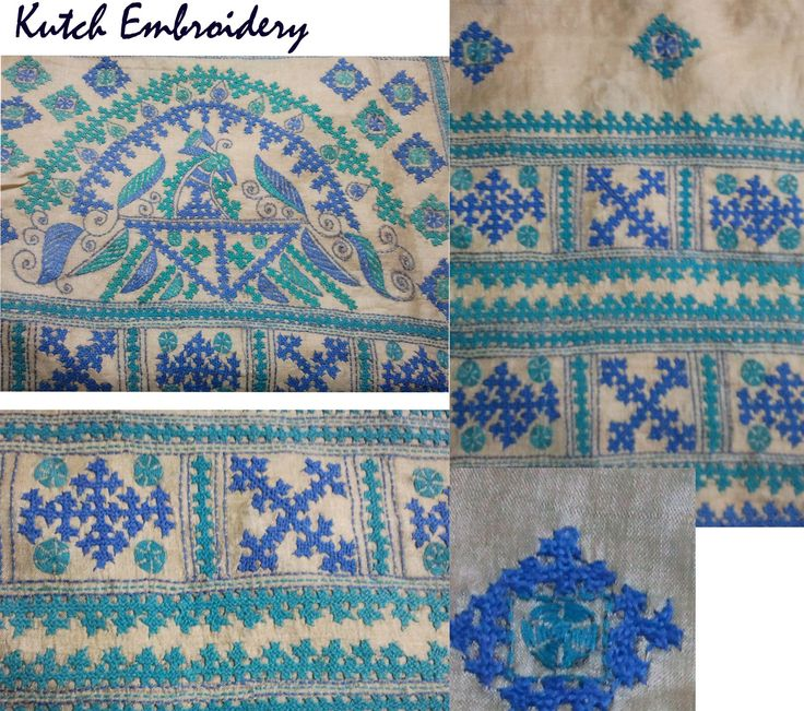 "traditional ""Kutch embroidery"" that originates form the region of ""Kutch"" in India West. First started in the 19th 20th centuries, this embroidery is characterised by buttonhole, herringbone chain stitches always bears the ""Maltese"" cross.......The ""Maltese"" cross is used in Armenian embroidery...some researchers state that this embroidery was brought to India (the region of Kutch) by Arab traders that also visited Armenia"
