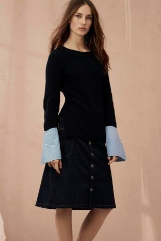 It's ALL in the cuff details with this sweater!