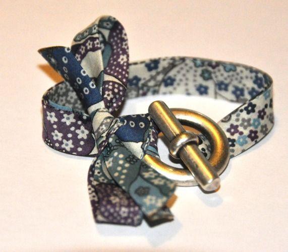 Bracelet liberty Noeud Bleu & Violet de Marion