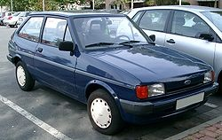 Ford Fiesta Mark 2 1983–1989 which I had in terracotta bought at auction only 3 door I ever owned