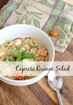 Caprese Quinoa Salad - Earn prizes for building healthy habits!